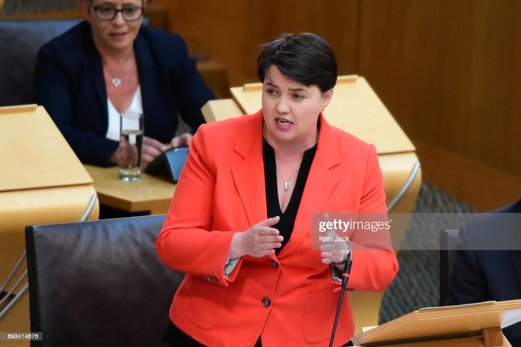 First Minister's Questions In Scottish Parliament On Eve Of UK General Election : News Photo