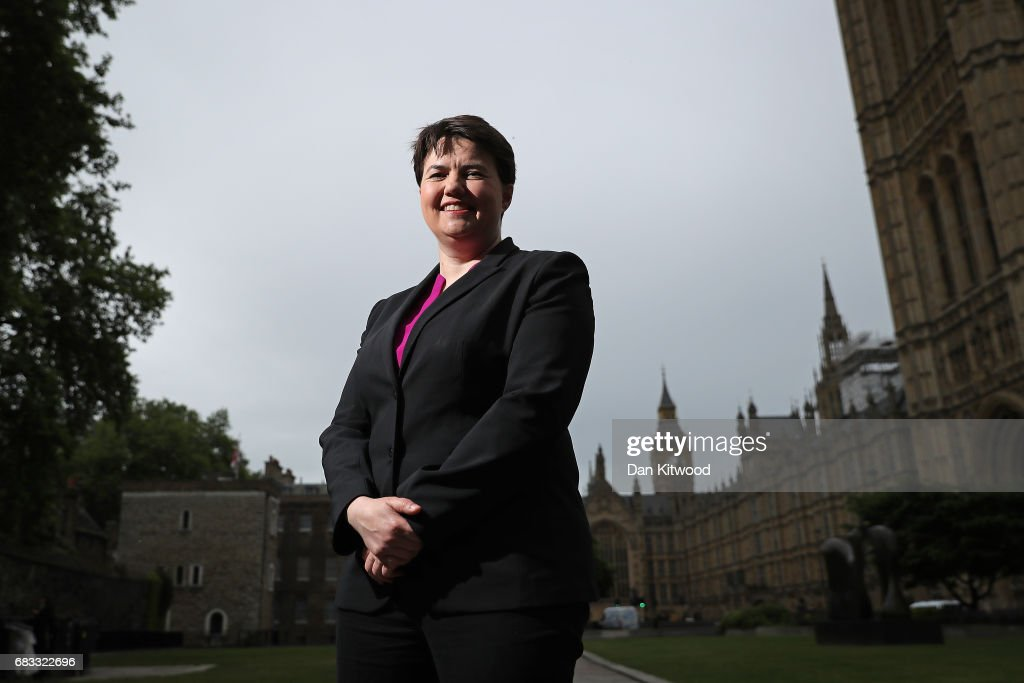 Scottish Conservative party leader Ruth Davidson poses for pictures on College Green in Westminster on May 15, 2017 in London, England. Ruth Davidson will later deliver the 2017 Orwell Prize Shortlist Lecture at UCL, (University College London).