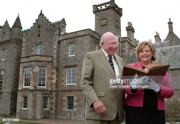 Scottish Culture minister Fiona Hyslop and Lord Sanderson at the home of Sir Walter Scott Abbotsford House Abbotsford near Melrose in the Scottish...