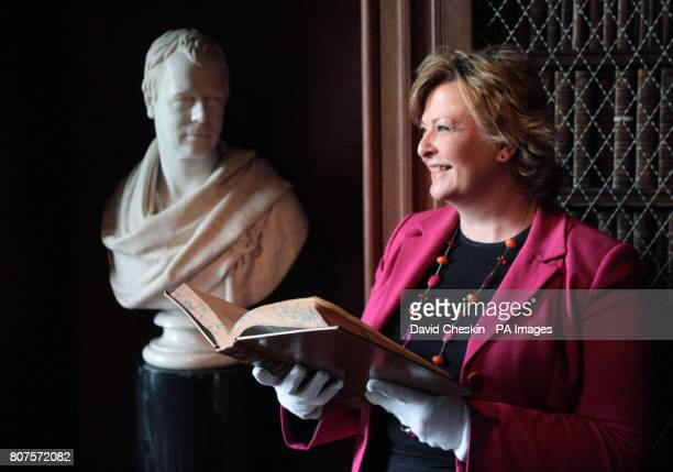 Scottish Culture minister Fiona Hyslop at the home of Sir Walter Scott Abbotsford House Abbotsford near Melrose in the Scottish Borders where she...