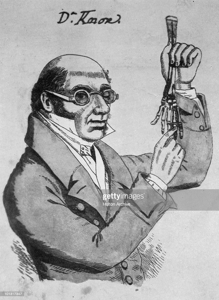 Scottish doctor Robert Knox (1791 - 1862) who purchased cadavers for dissection from murderers William Burke and William Hare in Edinburgh, circa 1830.