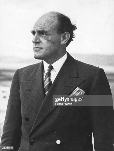 Scottish engineer and pioneer of broadcasting John Charles Walsham Reith 1st Baron Reith of Stonehaven on the promenade deck of the P O liner...