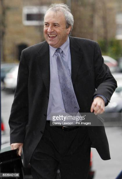 Scottish FA board member Brown McMaster arrives ahead of an SFA meeting at Hampden Park in Glasgow following the resignation of manager Alex Mcleish