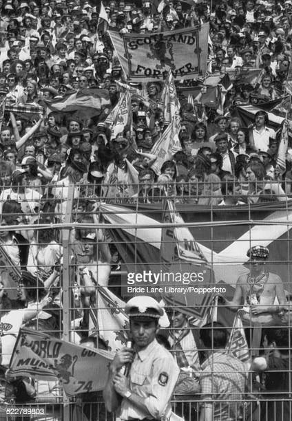 Scottish fans at the Waldstadion Frankfurt during the Group 2 match between Scotland and Yugoslavia during the FIFA World Cup in Germany 22nd June...