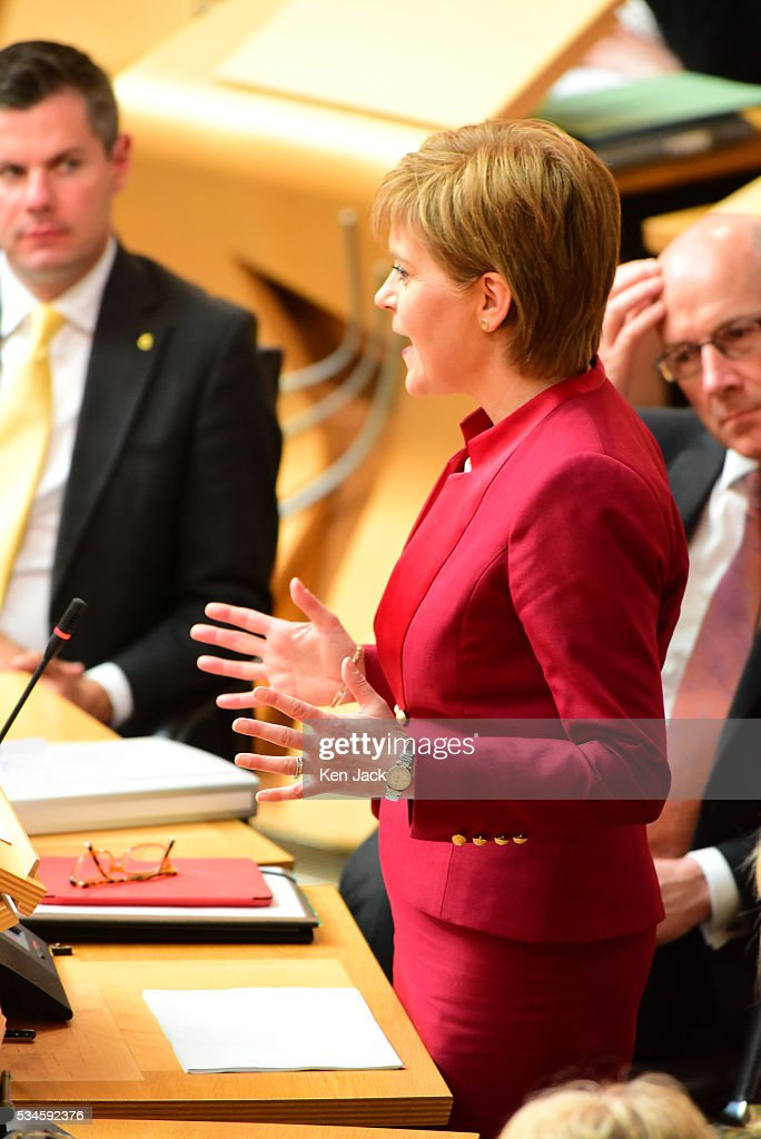 Scottish First Minister Nicola Sturgeon makes a statement to the Scottish Parliament on her Government's policy programme for the next five years,