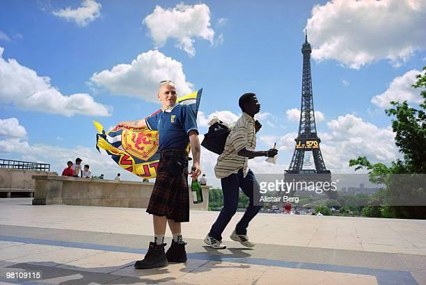 Scottish football fan in Paris