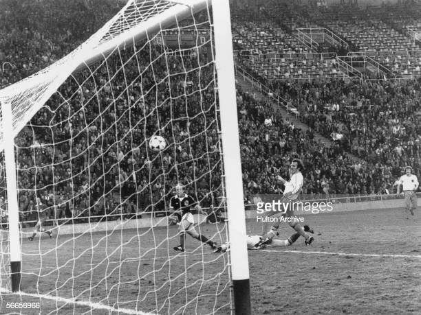 Scottish footballer Archie Gemmill scores against the Netherlands in Group 4 1st round of the World Cup held at the Estadio Ciudad de Mendoza 11th...