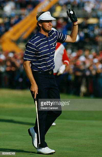 Scottish golfer Sandy Lyle on the 18th green during the British Open at Royal St George's Golf Club July 1985