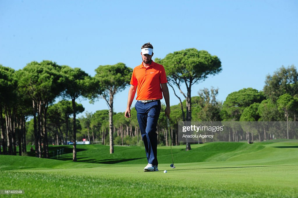 Scottish golfer Scott Jamieson is seeing during the 2nd day of the 'Turkish Airlines Open Golf Tournament' of PGA European Tour Final Series on...