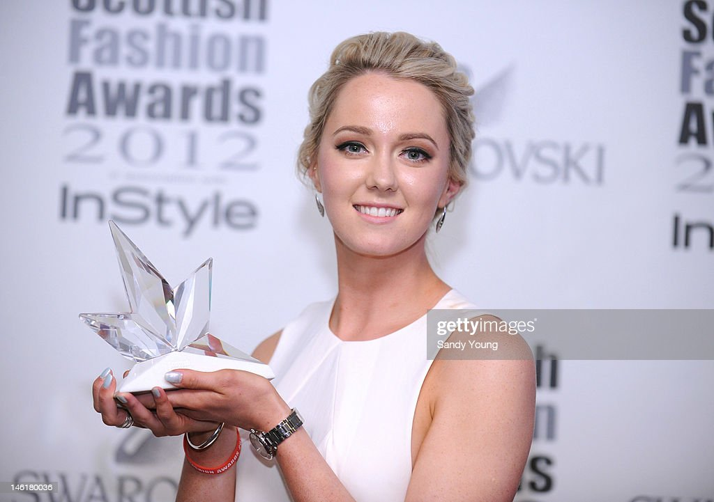 Scottish graduate of the year Joanne McGillivary attends Scotland's most high-profile celebration of fashion and style which recognises scottish designers who have made a significant contribution to the industry at The Clyde Auditorium on June 11, 2012 in Glasgow, Scotland.