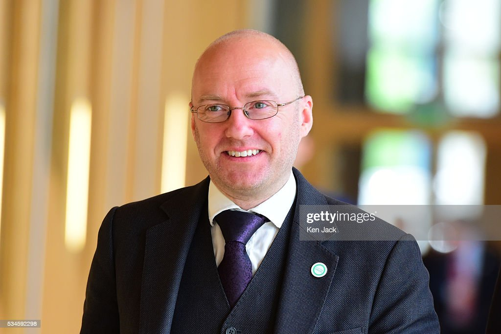 Scottish Green Party co-convener Patrick Harvie on his way to the chamber of the Scottish Parliament for a statement by First Minister Nicola Sturgeon on her Government's policy programme for the next five years,