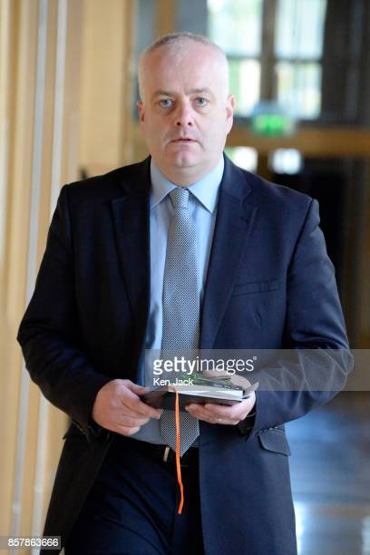 Scottish Green Party MSP Mark Ruskell on the way to First Minister's Questions in the Scottish Parliament on October 5 2017 in Edinburgh Scotland