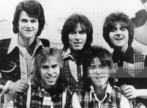 Scottish group the Bay City Rollers on the set of their new pop television programme 'ShangALang' The Bay City Rollers formed in Edinburgh chose...