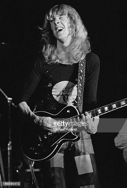 Scottish guitarist Davey Johnstone performing at Elton John's Christmas show at the Hammersmith Odeon London 21st December 1973