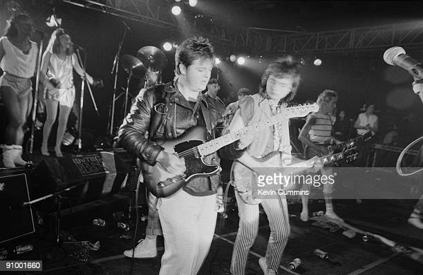Scottish guitarists Pat McGlynn and Ian Mitchell performing with the Bay City Rollers at the Futurama 5 Festival at the Queens Hall Leeds 17th...