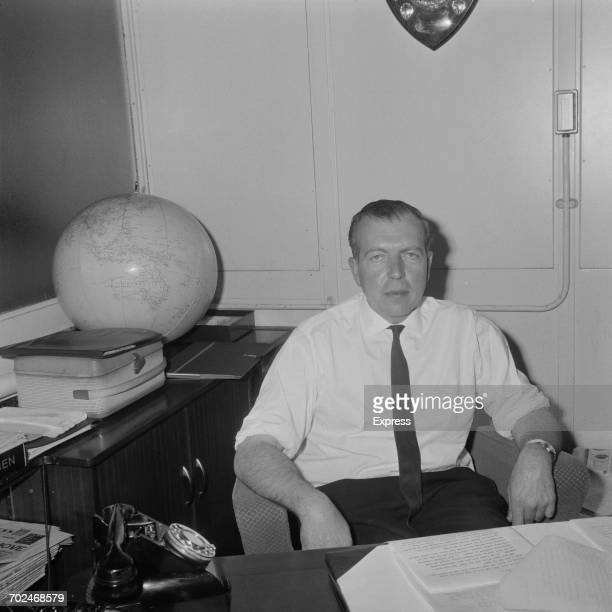 Scottish journalist John Junor editorinchief of the Sunday Express London 24th February 1964