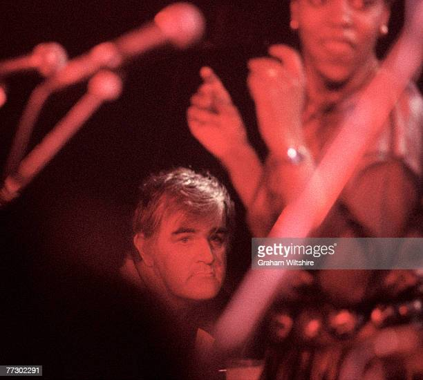 Scottish keyboardist and 'sixth Rolling Stone' Ian Stewart at a gig by his band Rocket 88 celebrating the 25th anniversary of the Marquee Club London...