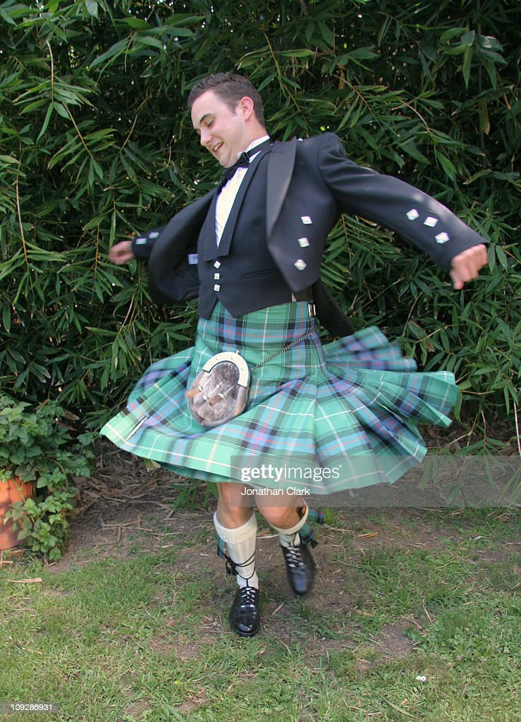 Scottish Kilt Twirl : Stock Photo