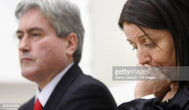 Scottish Labour leader Iain Gray and Christine Halley mother of Stuart Baillie who died after being stabbed in 2007 during the Labour party knife...
