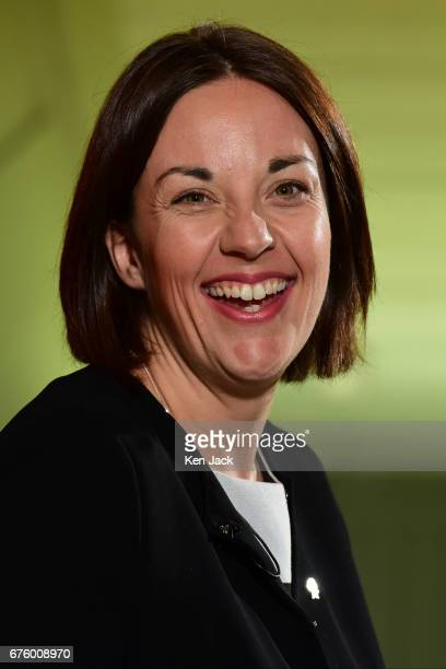Scottish Labour leader Kezia Dugdale at a local election campaign event on May 2 2017 in Edinburgh Scotland Local elections are scheduled to take...