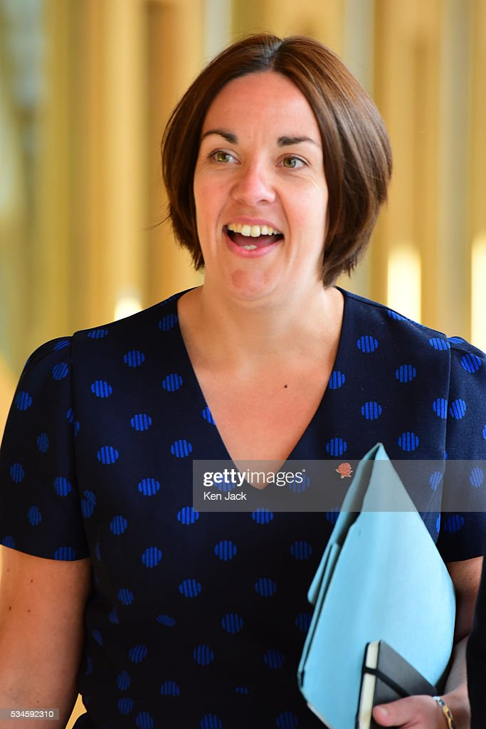 Scottish Labour leader Kezia Dugdale makes her way to the chamber of the Scottish Parliament for a statement by First Minister Nicola Sturgeon on her Government's policy programme for the next five years,