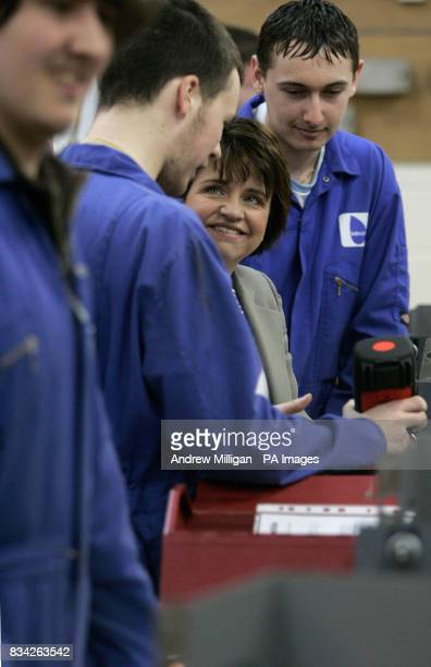 Scottish Labour leader Wendy Alexander launches Labour's Apprenticeship Bill after meeting apprentices and training staff at Carnegie College School...
