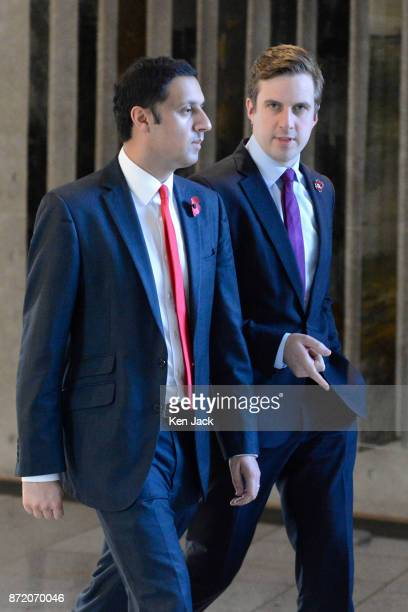 Scottish Labour leadership contender Anas Sarwar and Labour MSP Daniel Johnson on the way to First Minister's Questions in the Scottish Parliament on...