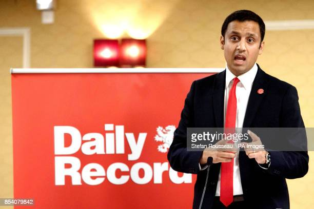 Scottish Labour Party leadership candidate Anas Sarwar speaks at a hustings during the Labour Party annual conference in Brighton
