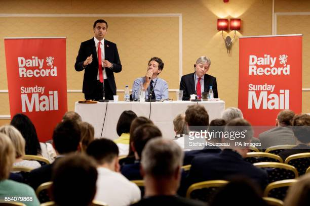Scottish Labour Party leadership candidates Richard Leonard amp Anas Sarwar at a hustings during the Labour Party annual conference in Brighton today...