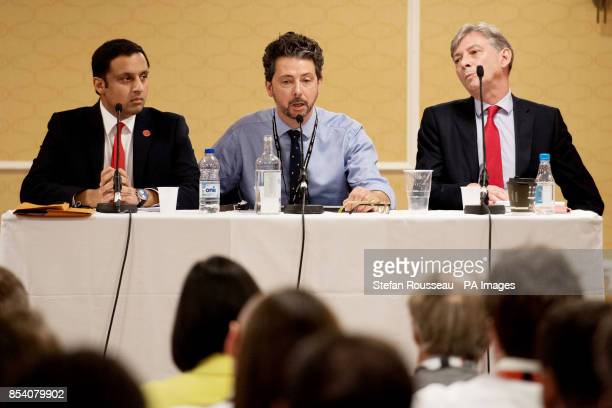 Scottish Labour Party leadership candidates Richard Leonard and Anas Sarwar at a hustings during the Labour Party annual conference in Brighton...