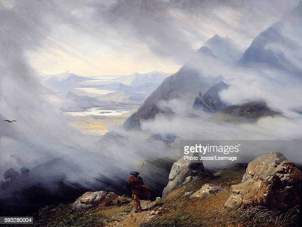 Scottish landscape Painting by Jean Bruno Gassies 1826 06 x 079 m Rolin Museum Autun France