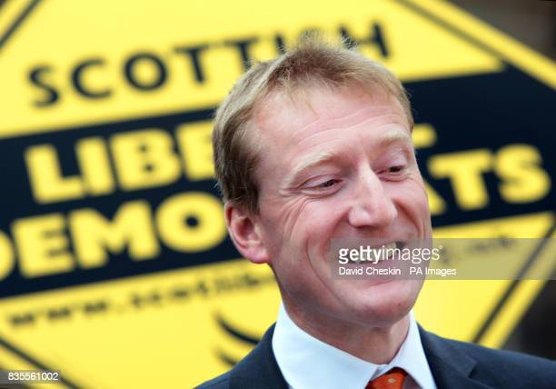 Scottish Liberal Democrat leader Tavish Scott on Edinburgh's Royal Mile for the results of the European election