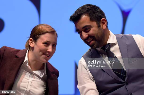 Scottish National Party politician and Member of Parliament Mhairi Black and Scottish Government Minister for Transport and the Islands Humza Yousaf...