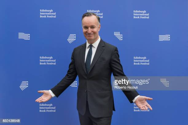 Scottish novelist and nonfiction author Andrew O'Hagan attends a photocall during the annual Edinburgh International Book Festival at Charlotte...