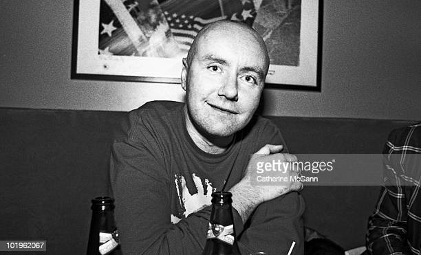 Scottish novelist Irvine Welsh poses for a portrait in May 1997 during a night on the town in New York City New York
