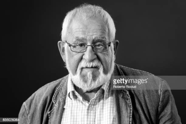 Scottish poet academic and critic Douglas Dunn attends a photocall during the annual Edinburgh International Book Festival at Charlotte Square...