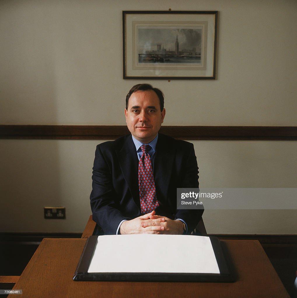 Scottish politician Alex Salmond, leader of the Scottish National Party (SNP), 1996.