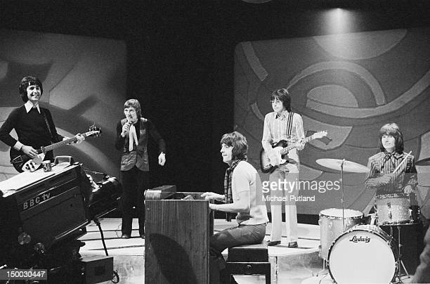Scottish pop group Marmalade performing on the BBC TV show 'Top Of The Pops' London 16th January 1969 Left to right Pat Fairley Dean Ford Junior...
