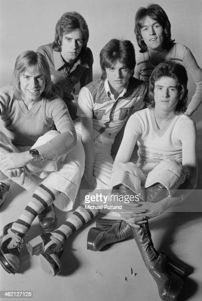 Scottish pop group The Bay City Rollers January 1974 Left to right Derek Longmuir Alan Longmuir Eric Faulkner John Devine and Les McKeown