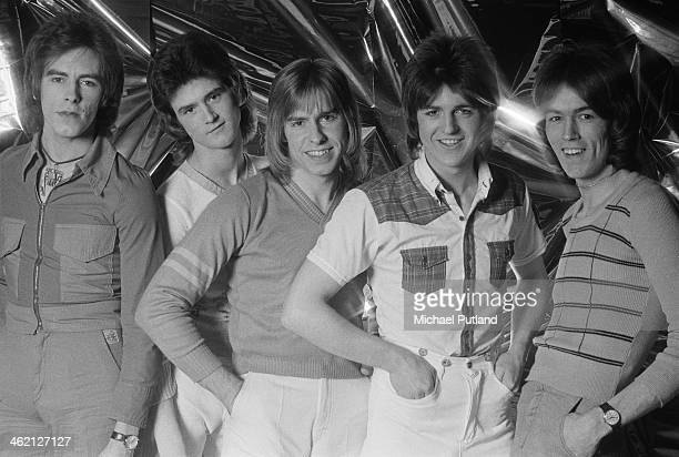 Scottish pop group The Bay City Rollers January 1974 Left to right Alan Longmuir Les McKeown Derek Longmuir Eric Faulkner and John Devine