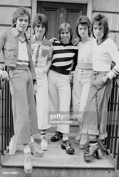 Scottish pop group The Bay City Rollers March 1974 Left to right Alan Longmuir Eric Faulkner Derek Longmuir Les McKeown and Stuart 'Woody' Wood