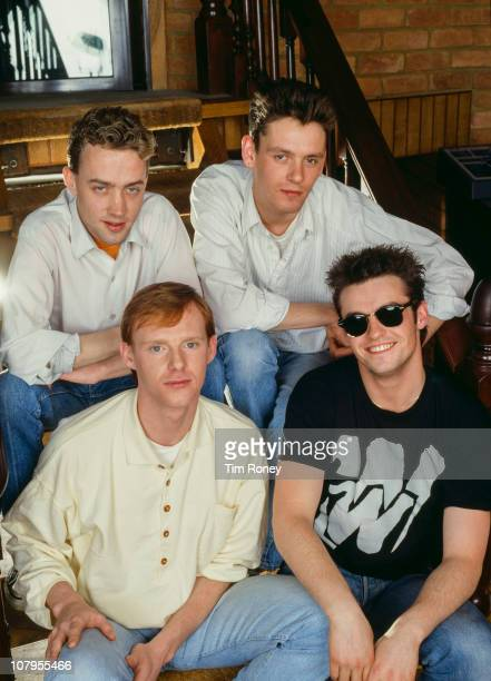 Scottish pop group Wet Wet Wet with singer Marti Pellow front right circa 1990