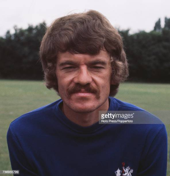 Scottish professional footballer and defender with Chelsea Football Club Eddie McCreadie posed at Chelsea's training ground in London at the start of...