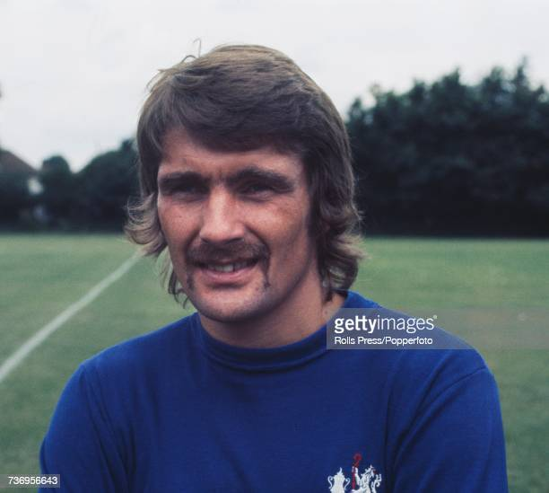 Scottish professional footballer and winger with Chelsea Football Club Charlie Cooke posed at Chelsea's training ground in London at the start of the...