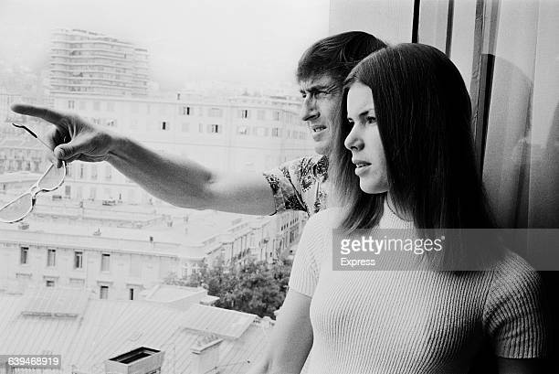 Scottish racing driver Jackie Stewart and his wife Helen in Monaco 20th May 1971