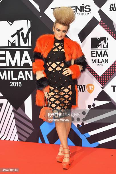 Scottish RB soul singer from Glasgow Tallia Storm attends the MTV EMA's 2015 at the Mediolanum Forum on October 25 2015 in Milan Italy