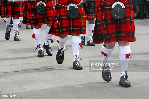 Scottish Red-Kilt Marchers