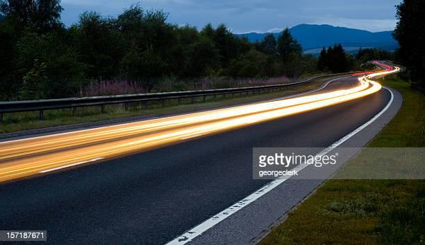Scottish Road at Night