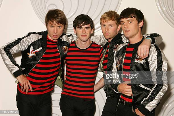 Scottish rock band Franz Ferdinand circa 2005 From left to right they are Alex Kapranos Paul Thomson Bob Hardy and Nick McCarthy