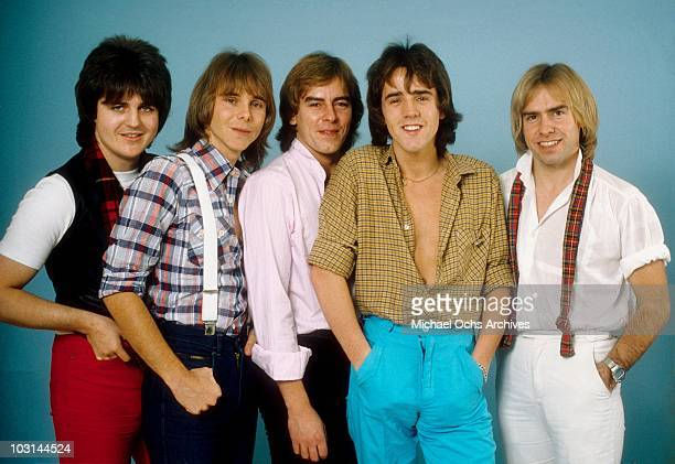 Scottish rock band 'The Bay City Rollers' pose for a portrait in circa 1978 in Los Angeles California Eric Faulkner Duncan Faure Alan Longmuir Stuart...